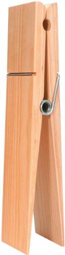 Darice 9192-08 Super Jumbo Wood Clothespin with Tag, 12-Inch -