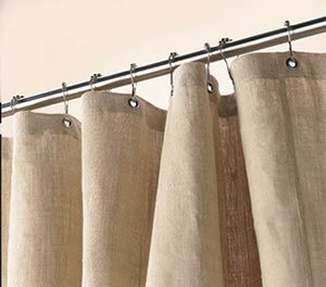 Bean Products Hemp Shower Curtain Size: 70'' x 74'' by Bean Products (Image #1)