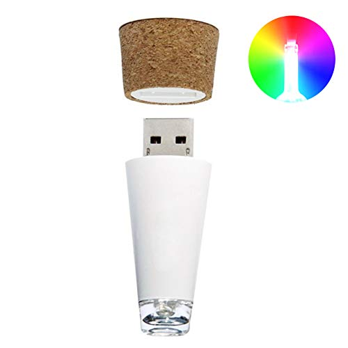 Finance Plan Romantic LED USB Rechargeable Wine Bottle Cap S