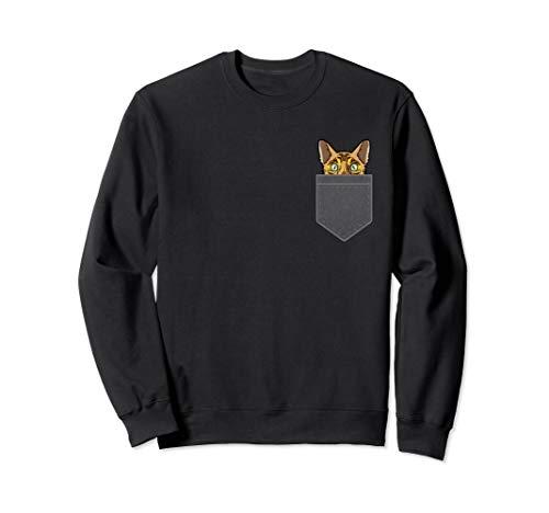 Cat In the Pocket Peeking Bengal Cat Mom Lovers Gift Sweatshirt