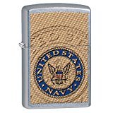 Zippo US Navy Seal Pocket Lighter, Street Chrome