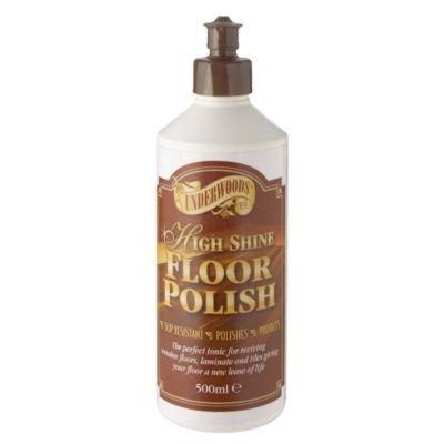 Underwoods High Shine Floor Polish 500ml For Sealed Wood