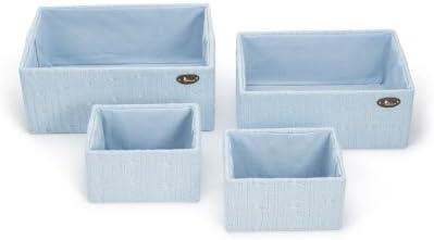 Set Cajas de Lana BebeDeParis en Azul - cajas de almacenaje para habitación del bebé: Amazon.es: Bebé
