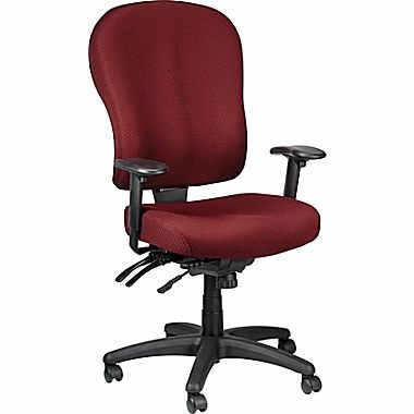 Tempur Pedic TP4000 Ergonomic Fabric Mid Back Task Chair; Burgundy