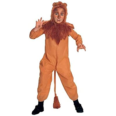 Wizard of Oz Child's Cowardly Lion Costume, Small: Toys & Games