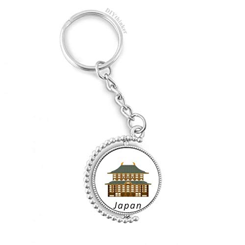 Traditional Japanese Cultural Temple Rotatable Key Chain Ring Keyholder