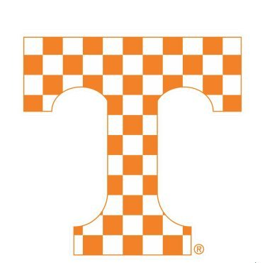 Tennessee Vols Stickers - Tennessee Volunteers Vols Checkered T 4