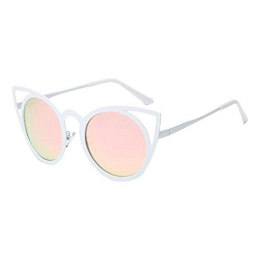 de Oreja de Hombres Moda Color Classic metal sol Frame la sol de Winwintom Mujeres Gafas E gafas Cat marca q8w5IIP