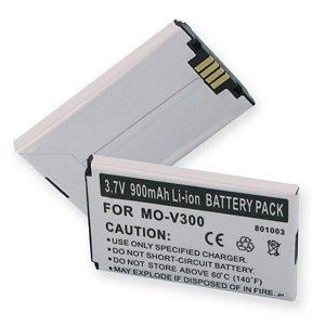 Motorola V262 Cell Phone Battery (Li-Ion 3.7V 900mAh) - Replacement For Motorola V300 Cellphone Battery