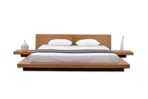 Fujian Modern Platform + 2 Night Stands King (Oak).