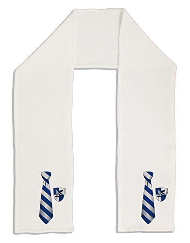 Fleece Tie Scarf (TooLoud Wizard Tie Blue and Silver Adult Fleece 64