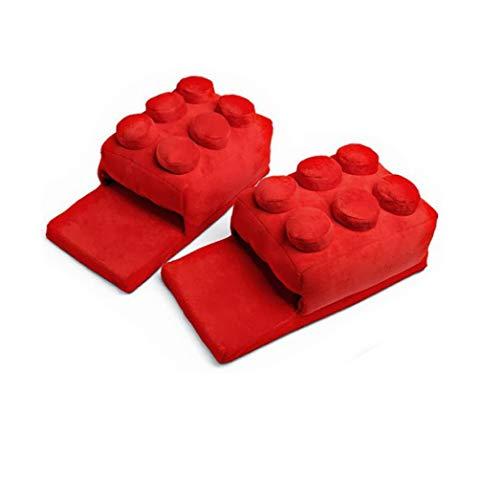 Coppia Casa Rosso Per 36 Cotone Blocchi Inverno Il Flip 42 Eleganti In Metri Pantofole Libero Autunno flop Tempo blu Scarpe Peluche La fq1UzWa
