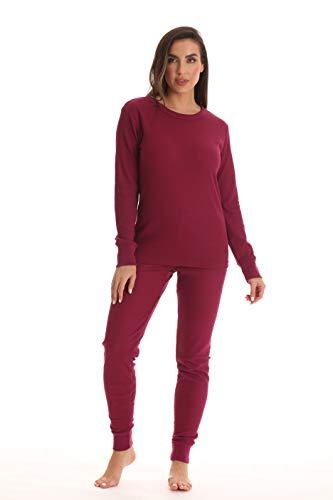 Just Love Women's Thermal Underwear Set 95862-BUR-M Burgundy