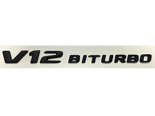 Mercedes AMG V12 BiTurbo bi-Turbo Black Emblem Badge New AMG 2014+ Style (V12 Badge)