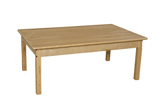 Wood Designs WD83422 Child's Table, 30'' x 48'' Rectangle with 22'' Legs by Wood Designs