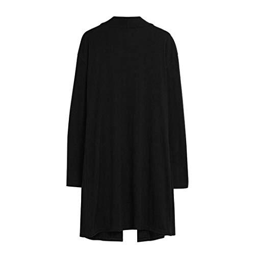 zahuihuiM Casual Femmes Cardigan, Automne Mode Tops Manches Longues Plus Poche Pur Couleur Blouses Chauds Chandail Noir