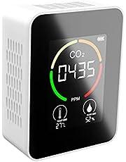 CO2-monitor Kooldioxidedetector Voor Binnen Luchtkwaliteitsmonitor Draagbare Wandophanging CO2-detector Temperatuur Vochtigheidsconcentratie Realtime Tester Voor Thuis, Auto, Kantoor, Klaslokalen