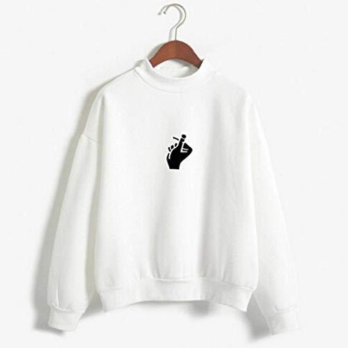 Mujer Blusa Largas Camisetas Con otoño Carta Sudaderas De Luckycat Jerséis Tops Mujer Mujer Grande Talla Blanco Impresión Para Invierno Capucha APaxT