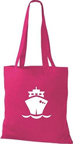 JUTA Borsa di stoffa Nave da carico,Oltremare,Stivale,CAPITANO - rosa, 38 cm x 42 cm