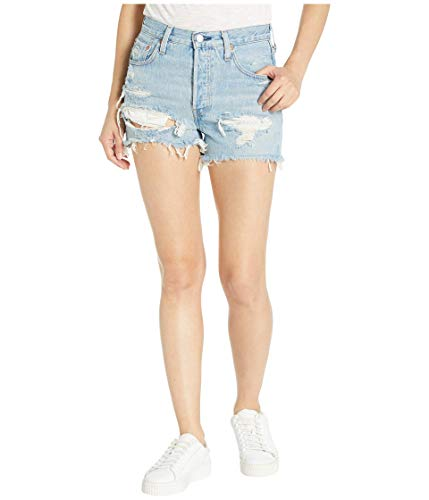 Levi's Women's 501 High Rise Shorts, Fault Line, Blue, 27 (Vintage Levis Shorts)