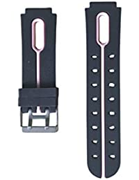 NICERIO Kids Watch Strap - Silicone Strap Waterproof Strap Boys and Girls Universal Strap for Four Generations of Childrens Phone Watches(Black and Pink)