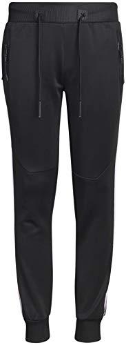 (XS Sport Boy\'s Sport Tech Active Fleece Jogger Pant (Black/Side Taping, X-Large)')