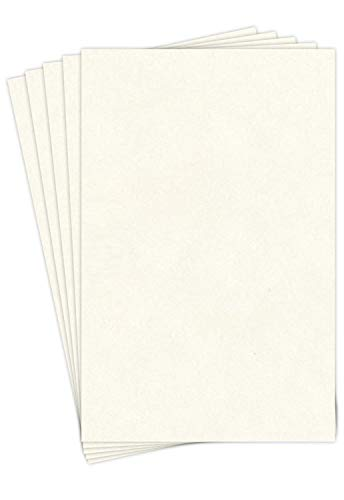 8.5 X 11 Stationery Imitation Parchment Recycled Paper 65lb. Cover Cardstock - 50 Sheets Per Pack (New White) ()