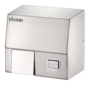 (Fastdry HK1800SS Hand Dryer, Brushed Stainless Steel, 110/120 volt - Push Button with Wall Plug)