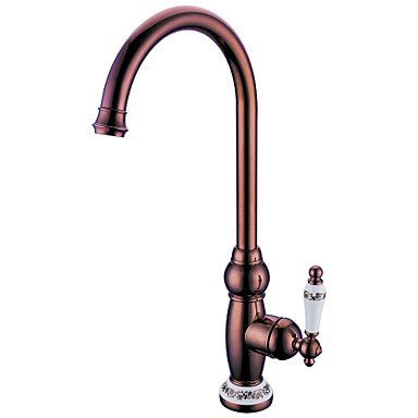 Centerset Single Handle One Hole with Ti-PVD Kitchen faucet Rose by ZHENG