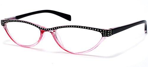 Cat Eye Retro Reading Glasses For Women Pink By Florida Glasses® +2.00 ()