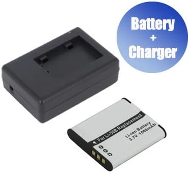 1000 mAh Charger Replacement for Olympus Stylus 9010 BattPit trade; New Digital Camera Battery