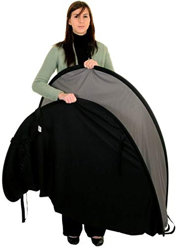 Lastolite LL LB56GB Reversible 5-Feetx6-Feet Plain Collapsible Background (Black/Mid Gray)