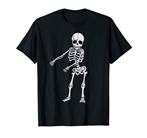 Floss Dance Skeleton T Shirt Halloween Kids Boys