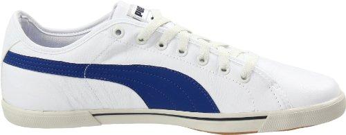 Puma Mens Benecio Lederen Sneaker Wit / Limoges