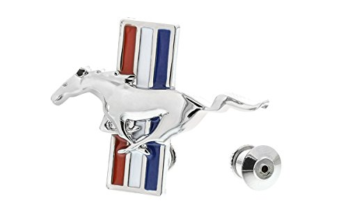 - Ford Genuine Mustang Pony Tri-Color Red White Blue Oval Lapel Pin