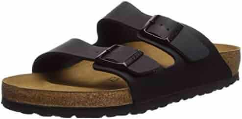 Birkenstock Unisex Arizona Black Sandals - 10-10.5 2A(N) US Women/8-8.5 2A(N) US Men