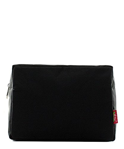 - N. Gil Large Travel Cosmetic Pouch Bag 2 (Solid Black)