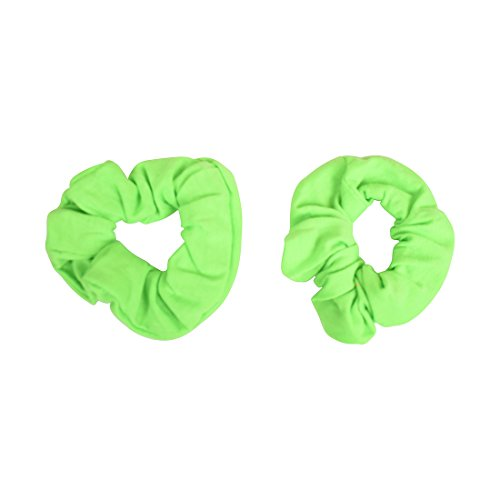 Set of 2 Solid Scrunchies - Neon Green