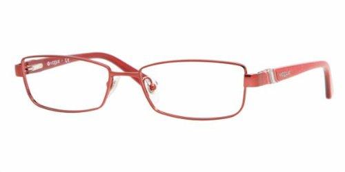 Vogue 3749 Eyeglasses Color 543 - Red Frames Eyeglass Vogue