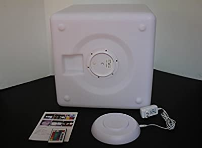 """Outdoor LED Light Cube 16"""" - Cordless with remote control"""