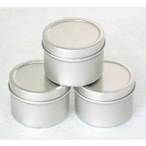 2 oz. Round Favor Tins - pack of 12 (2in. in diameter) by Sophie's Favors