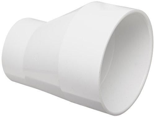 Spears 429-E Series PVC Pipe Fitting, Eccentric Coupling, Schedule 40, White, 6