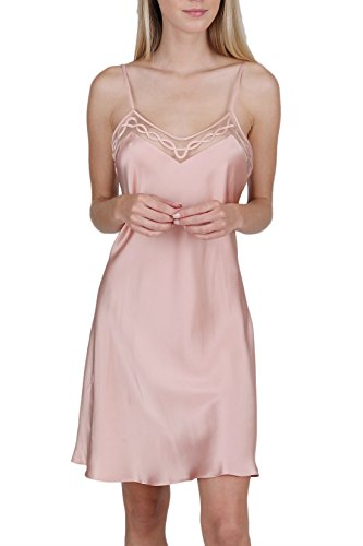 OSCAR ROSSA Women's Luxury Silk Sleepwear Delicate Hand Crafted V Neck 100% Silk Slip Chemise - Slip Bias