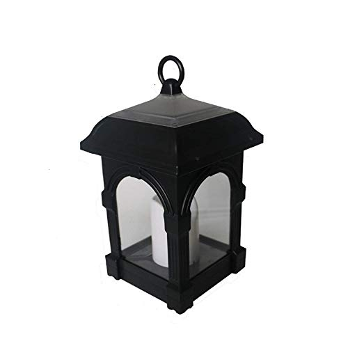Table lamp Outdoor Solar Swing Candle Wind Light Garden Candle Light Solar Hanging Light Bedside lamp (Color : Black, Size : One Size)