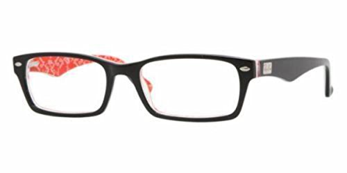 Ray-Ban Men's RX5206 Rectangular Eyeglasses,Top Black & Texture Red,52 - Polarized Ban 52mm Aviator Ray