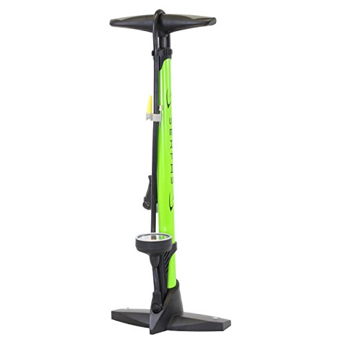 Serfas Bicycle Floor Pump with Gauge - FP-600 (Lime Green) (Pump Bicycle Serfas)
