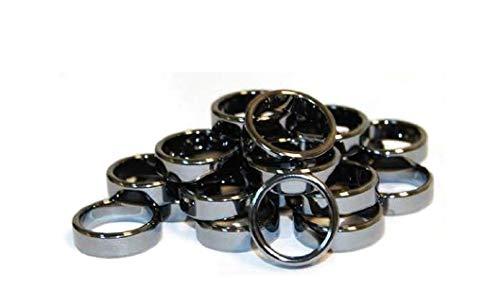 Hematite Ring - 6mm Flat Hematite Rings (20/bag) *