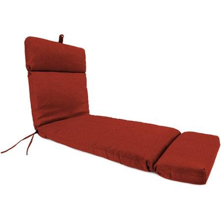 Jordan Manufacturing Outdoor Or Indoor Replacement Chaise Lounge Cushion, Husk Texture Brick, Red by Unknown
