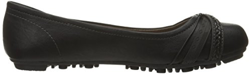 Women's smooth Front Flat Jellypop Black 6xPnqcd