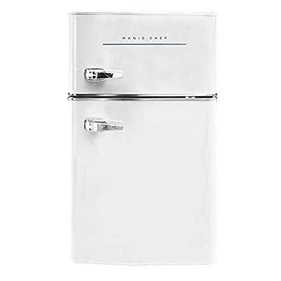 Magic Chef Retro Mini Refrigerator 3.2 cu. ft. 2-Door Fridge in White